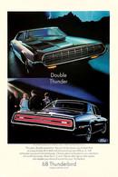 Publicité Papier VOITURE FORD THUNDERBIRD Apr 1968 NG P1051355 - Pubblicitari