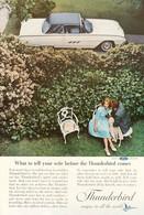 Publicité Papier VOITURE FORD THUNDERBIRD Dec 1962 NG P1051067 - Pubblicitari