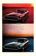 Publicité Papier VOITURE FORD THUNDERBIRD Jan 1968 NG P1051371 - Pubblicitari