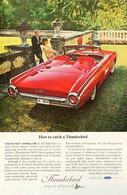 Publicité Papier VOITURE FORD THUNDERBIRD May 1963 NG P1051050 - Pubblicitari