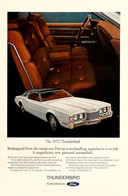 Publicité Papier VOITURE FORD THUNDERBIRD May 1972 NG P1051212 - Pubblicitari