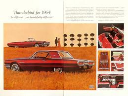 Publicité Papier VOITURE FORD THUNDERBIRD Nov 1963 NG P1051034 - Pubblicitari