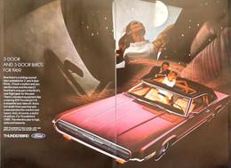 Publicité Papier VOITURE FORD THUNDERBIRD Nov 1968 NG P1051175 - Pubblicitari