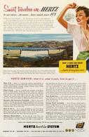 Publicité Papier VOITURE HERTZ RENT A CAR May 1953 NG P1051154 - Pubblicitari