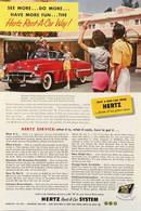 Publicité Papier VOITURE HERTZ RENT A CAR Nov 1953 NG P1051131 - Pubblicitari
