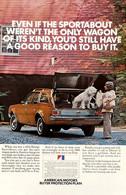 Publicité Papier VOITURE HORNET SPORTABOUT AMC Apr 1972 NG P1051202 - Pubblicitari