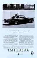 Publicité Papier VOITURE IMPERIAL CROWN Mar 1963 NG P1050895 - Pubblicitari