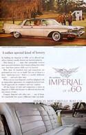 Publicité Papier VOITURE IMPERIAL Mar 1960 NG P1050951 - Pubblicitari