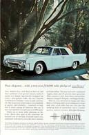 Publicité Papier VOITURE LINCOLN CONTINENTAL June 1961 NG P1050872 - Pubblicitari