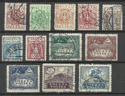 POLEN Poland 1919 Michel 77 - 88 O - Usati