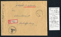 1942 Germany Registered Einschreiben Feldpost Cover, Feldpostamt 227 Leningrad Russia - Covers & Documents