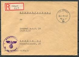 1943 Germany Registered Einschreiben Feldpost Cover, Feldpostamt 227 Leningrad Russia - General Z.b.V. 4, Berlin - Covers & Documents