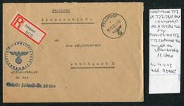 1942 (May 22) Germany Registered Einschreiben Feldpost Cover, Feldpostamt 227 Leningrad Russia - Stuttgart - Covers & Documents