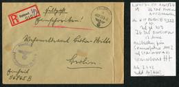 1942 (March 22) Registered Einschreiben Feldpost 065865 B Cover, Feldpostamt 176 Stalingrad - Covers & Documents