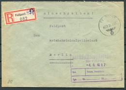 1941 (May 29) Registered Einschreiben Feldpost 16442 C Cover, Feldpostamt 176 Ukraine - Reichskriminalpolizeiamt Berlin - Covers & Documents