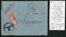 1942 (April 8) Registered Einschreiben Feldpost 29777 Cover, Feldpostamt 176 Stalingrad - Covers & Documents