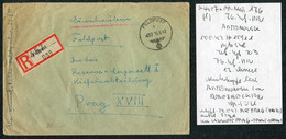 1942 (May 15) Registered Einschreiben Feldpost 15911 Cover, Feldpostamt 176 Romania - Reserve Lazarett Hospital Prague - Covers & Documents