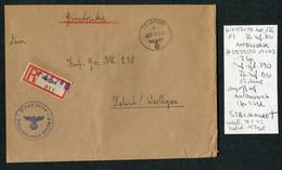 1942 (May 13) Registered Einschreiben Feldpost 03550 D Cover (slightly Reduced) Feldpostamt 176 Stalingrad - Covers & Documents