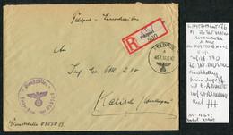 1942 (June 10) Registered Einschreiben Feldpost 03550 B Cover Feldpostamt 176 Stalingrad 6th Army - Kalisch - Covers & Documents
