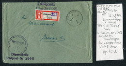 1944 Registered Einschreiben Feldpost 26441 Cover Feldpostamt 176, 8th Army - Covers & Documents