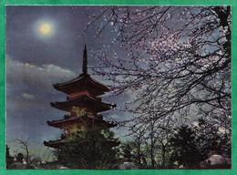 Tokyo Senso-Ji Scenery Of Ueno Five-storied Pagoda In Spring 2scans - Tokio