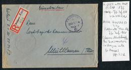 1944 (Oct 11) Registered Einschreiben Feldpost 58548 D Cover Feldpostamt 176, 6th Army - Covers & Documents