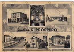 CARTOLINA  SALUTI DA S.PROSPERO,MODENA,EMILIA ROMAGNA,STORIA,CULTURA,MEMORIA,RELIGIONE,BELLA ITALIA,VIAGGIATA 1959 - Modena
