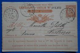 Y5 ITALIE  BELLE CARTE   1903 IGLESIAS CAGLIARI  POUR TORINO  + + AFFRANCH INTERESSANT - Marcofilie
