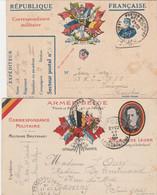 BELGIQUE  POSTE MILITAIRE  2 ENTIERS POSTAUX (DONT 1 FRANCAIS)  1916  WW1 - Army: Belgium