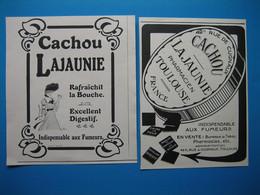(1911-1913-1922-1925) CACHOU LAJAUNIE à Toulouse (lot De 7 Publicités) - Pubblicitari