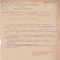 WW2 RSI FASCISMO GUARDIA NAZIONALE REPUBBLICANA - 1^LEGIONE TORINO - RAPPORTO INFORMATIVO - Dokumente