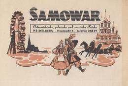 Samowar Hungary Fairground Big Wheel Old Advertising Postcard - Ungarn