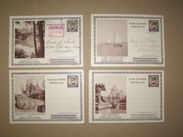 4 Cartes Illustrées - Entiers Postaux 25 Ct + 25 Ct - Surtaxe 40 Ct - Liège, Arlon, De Panne, Bouillon - Illustrat. Cards