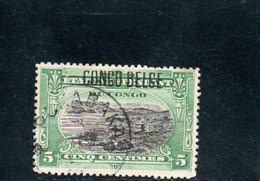 CONGO BELGE 1908 O - 1894-1923 Mols: Used