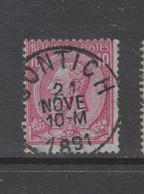 COB 46 Oblitération Centrale CONTICH - 1884-1891 Leopold II