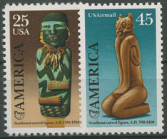 USA 1989 Indianer Kunst Brauchtum Schnitzfiguren 2055/56 Postfrisch - Nuevos