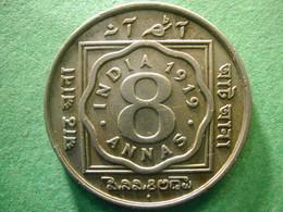 India 8 Annas 1919  RARE ! - India