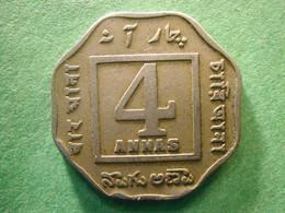 India 4 Annas 1919  RARE ! - India