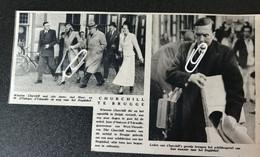 BRUGGE..1948.. WINSTON CHURCHILL EN MET MEVR. M. D 'OUTRYVE D' YDEWALLE OP WEG NAAR HET BEGIJNHOF - Unclassified