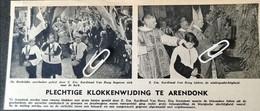 ARENDONK..1948.. PLECHTIGE KLOKKENWIJDING Z. EM. KARDINAAL VAN ROEY - Unclassified