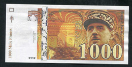 """Billet De Banque Publicitaire """"1000 Francs - Général Charles De Gaulle"""" à Voir ... - Specimen"""