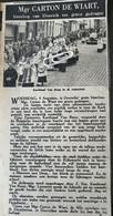 DOORNIK..1948.. MGR. CARTON De WIART BISSCHOP VAN DOORNIK TEN GRAVE GEDRAGEN - Unclassified