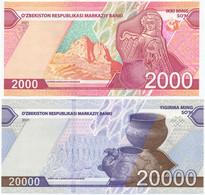 UZBEKISTAN USBEKISTAN OUZBEKISTAN - NEW - 2000 + 20000 SUM 2021 UNC - Oezbekistan