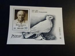K48792 - Bloc MNh Russia 1981 - Picasso - Pigeon - Columbiformes