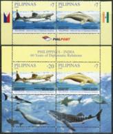 PHILIPPINES 2009 Philippines - India 60 Years Of Diplomatic Relations Shark Dolphin Sharks Marine Life Animals Fauna MNH - Otros