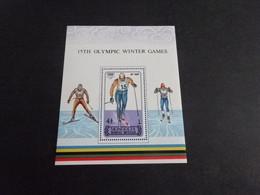 M11581 - Bloc Lightly Hinged Mongolia 1988 - Olympics Calgary - Winter 1988: Calgary