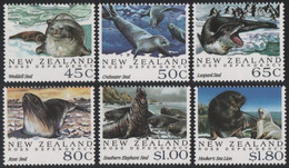 Neuseeland 1992 - Mi-Nr. 1220-1225 ** - MNH - Robben / Seals - Nuovi