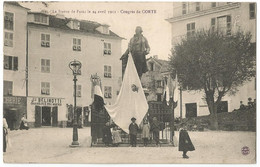 CORSE CPA  Congrès De CORTE - La Statue De Pascal Paoli Le 24 Avril 1911 - Animée - Corte