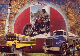 Thèmes. Transports. Canada. Bus Moto Camion Harley Davidson School Bus Truck - Moto