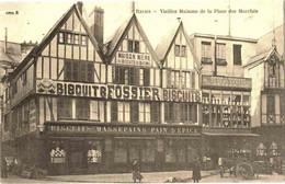 Reproduction CPA 51 (Marne) Reims - Biscuits FOSSIER. Vieilles Maisons De La Place Des Marchés TBE - Reclame